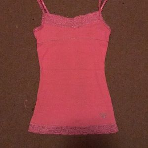 Pink lace cami